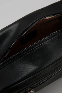 Black Textured Surface Toiletry Bag