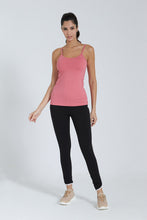 Load image into Gallery viewer, Pink Plain Strappy Vest