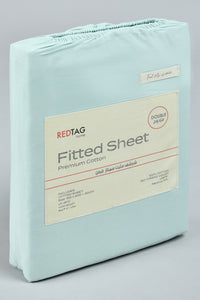 Teal 100% Cotton Fitted Sheet (Double Size)