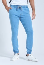 Load image into Gallery viewer, Stonewash Elasticated Waist Jogger Jean