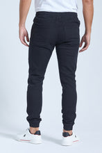 Load image into Gallery viewer, Black Elasticated Waist Jogger Jean