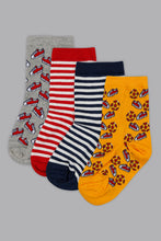 Load image into Gallery viewer, Assorted Jacquard Design Socks (4-Pack)