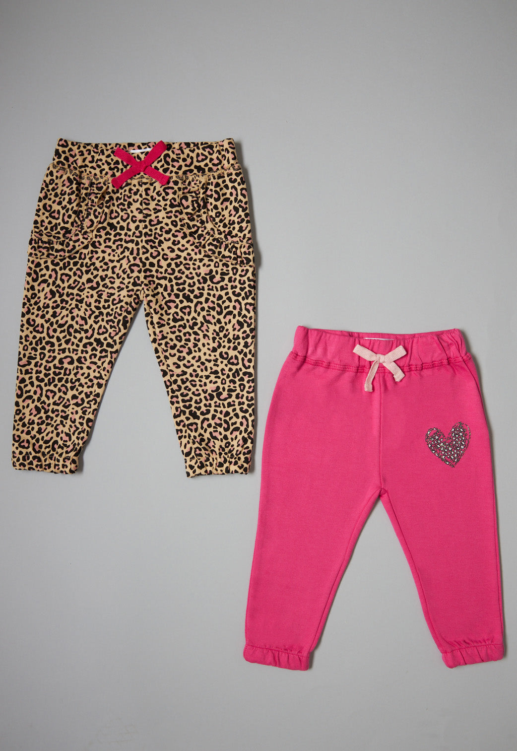 Leopard Print And Pink Joggers (2 Pack)