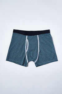 Grey/Blue Printed Hipster Briefs (2-Pack)