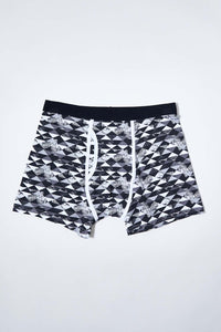 Black/Navy Plain and Printed Trunk (2-Pack)