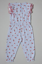 Load image into Gallery viewer, Blue Ditsy Print Jumpsuit
