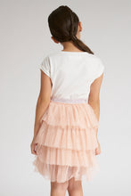 Load image into Gallery viewer, White T-Shirt And Pink Skirt Set