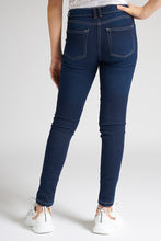 Load image into Gallery viewer, Dark Blue Knitted Skinny Jean