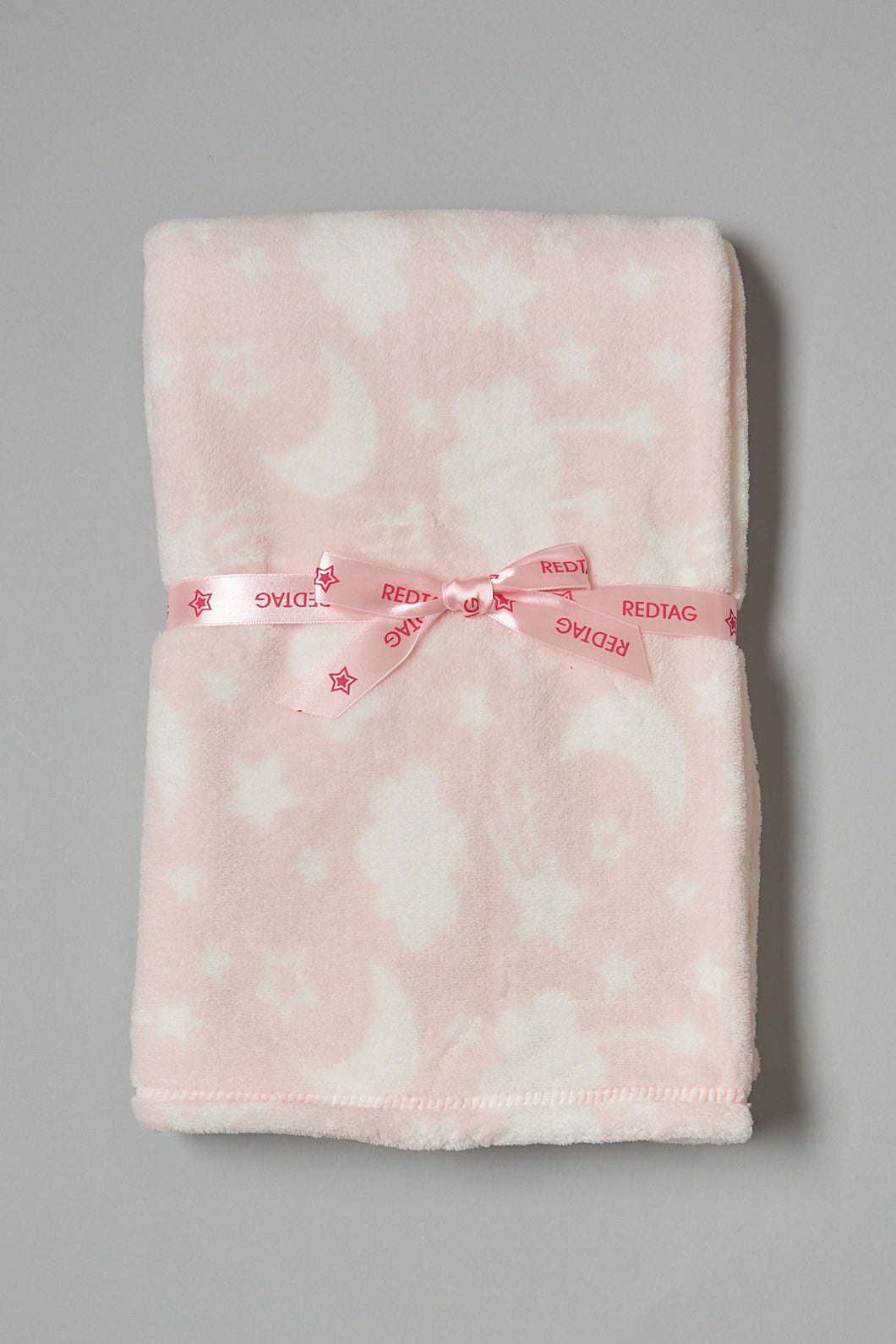 Pink And White Clouds Fluffy Baby Blanket