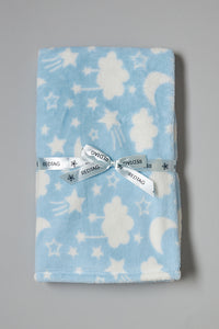 Blue And White Clouds Fluffy Baby Blanket