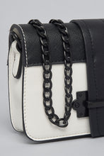 Load image into Gallery viewer, White/Black Flap Bag