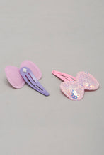 Load image into Gallery viewer, Multicolour Glitter Butterfly Snap Hair Clips (Pack of 4)
