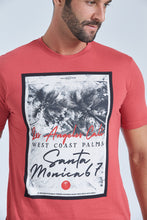 Load image into Gallery viewer, Red Santa Monica Print T-Shirt
