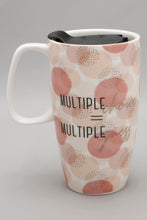 Load image into Gallery viewer, Multi Coloured Slogan Travel Mug