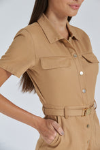 Load image into Gallery viewer, Tan Belted Playsuit