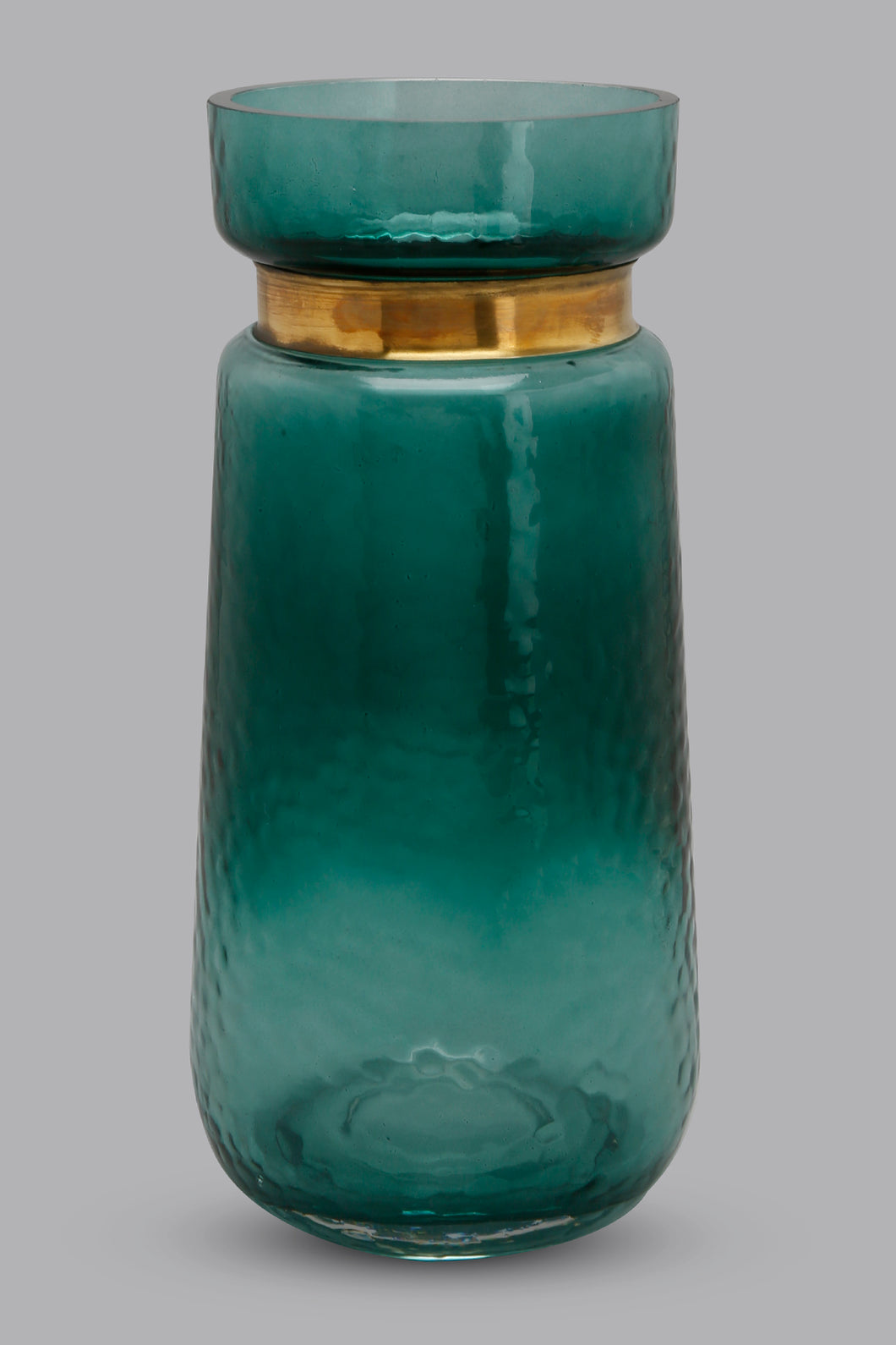 Teal Textured Glass Hurricane (Small)