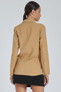 Tan One-Button Jacket