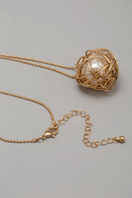 Load image into Gallery viewer, Gold Pearl Embellished Necklace