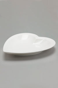 White Porcelain Heart Shape Plate