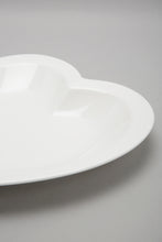Load image into Gallery viewer, White Porcelain Heart Shape Plate