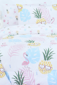 Pink Flamingo Printed 2-Piece Comforter Set (Kids)