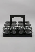 Load image into Gallery viewer, Clear Glass Spice Jar Set (8 Piece)