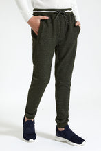 Load image into Gallery viewer, Dark Green Fleece Jogger