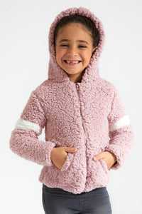 Pink Fleece Hoody Sweatshirt