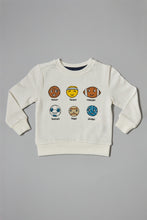 Load image into Gallery viewer, White Graphic Print Sweatshirt