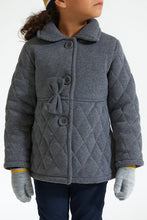 Load image into Gallery viewer, Dark Grey Quilted Jacket