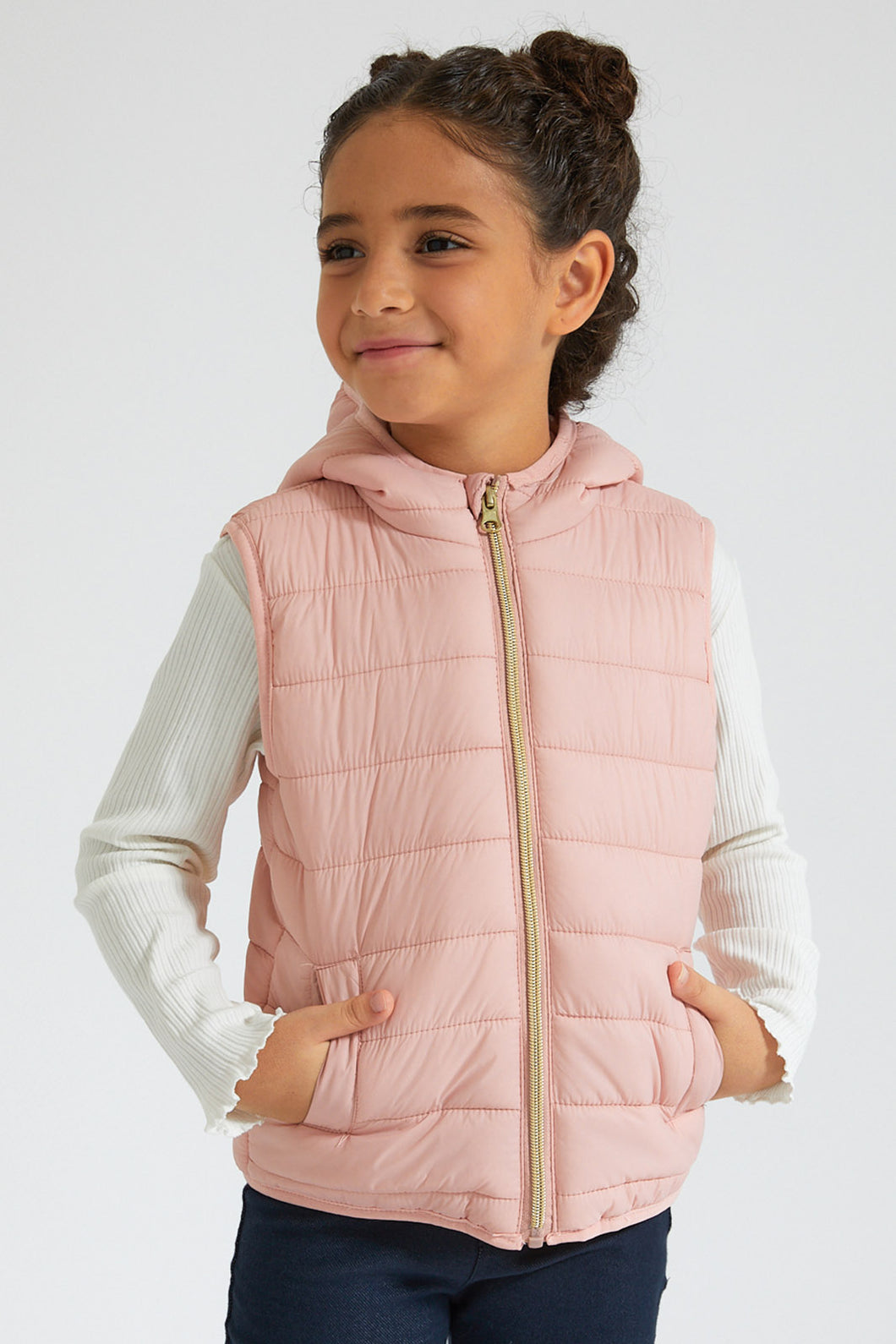 Pink Vest Padded Jacket
