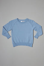 Load image into Gallery viewer, Blue Plain Crew Neck Pullover
