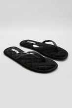 Load image into Gallery viewer, Black Velvet Thong Slipper