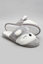 Load image into Gallery viewer, Grey Slipper With Animal Face
