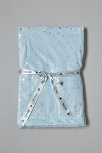 Blue And Silver Star Baby Blanket