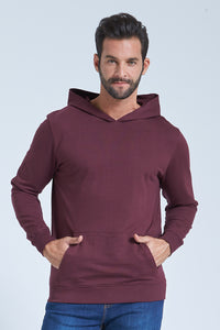 Burgundy Overhead Hooded Sweatshirt