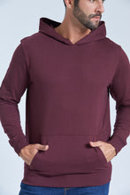 Load image into Gallery viewer, Burgundy Overhead Hooded Sweatshirt