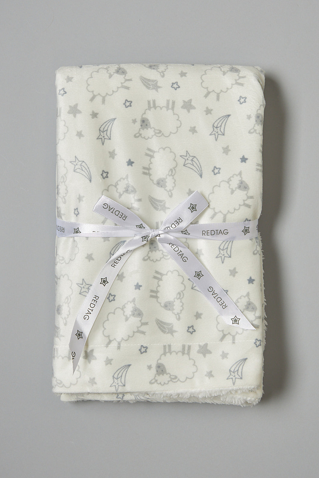 Grey And White Sheep Double Sided Sherpa Blanket