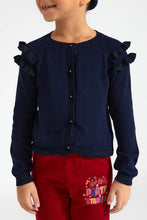 Load image into Gallery viewer, Navy Frill Bolero