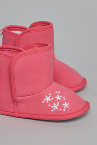 Fuchsia Embroidery Ankle Boot