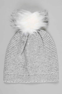Silver Foil Knitted Beanie
