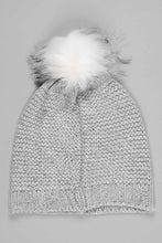 Load image into Gallery viewer, Silver Foil Knitted Beanie