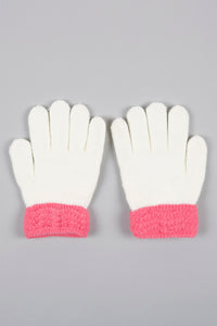 White Butterfly Knitted Gloves
