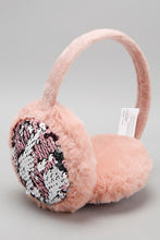 Load image into Gallery viewer, Pink Sequin Faux Fur Earmuff
