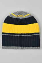 Load image into Gallery viewer, Navy Knitted Beanie with Number Rubber Patch