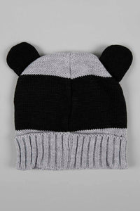 Grey Character Knitted Beanie with Mittens with Ear (Pack of 2)