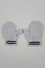 Load image into Gallery viewer, Grey Character Knitted Beanie with Mittens with Ear (Pack of 2)