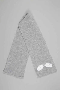 Grey Character Beanie, Gloves and Scarf Set With Ear (Pack of 3)