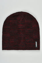 Load image into Gallery viewer, Maroon and Black Cable Knitted Beanies (Pack of 2)