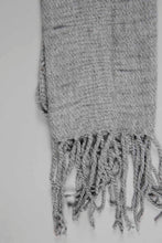 Load image into Gallery viewer, Grey Crinkle Knitted Scarf